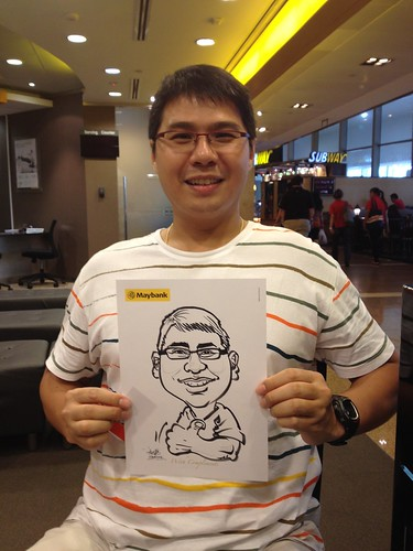 caricature live sketching for Maybank Roadshow - 7