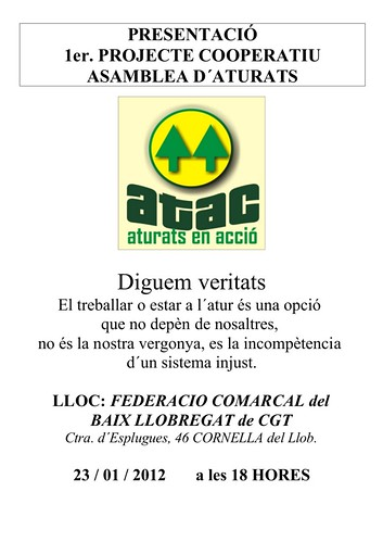 AturatsEnAccio al Baix Llobregat 23 de gener 2013