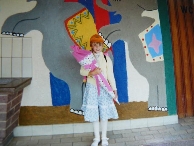 Katrin Rönicke, Einschulung 1989