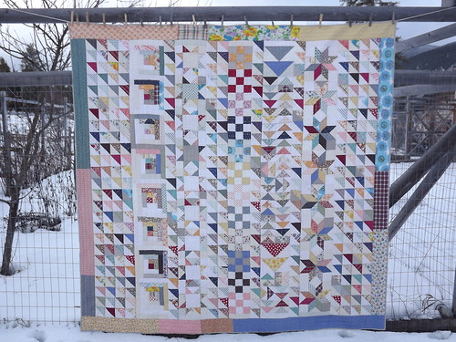 winter-into-spring sampler quilt