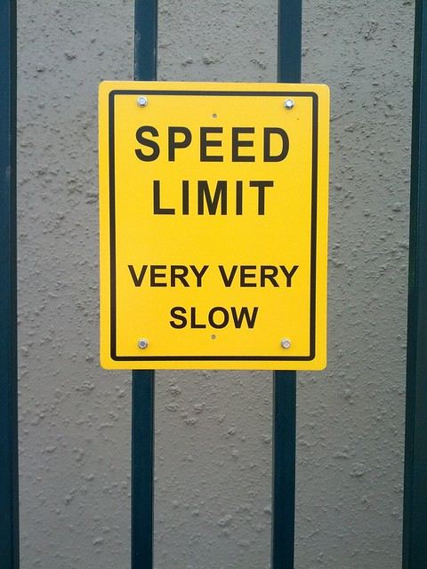 speed limit very very slow