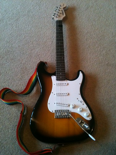 Shiny new fender starcaster for #rocksmith