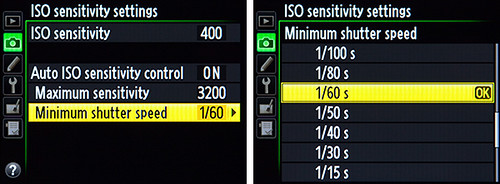 Nikon D600 ISO sensitivity settings menu auto iso screenshot how to use set up learn manual guide book dummies