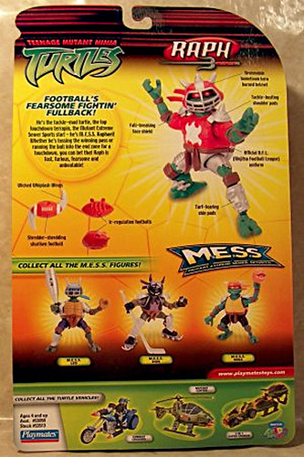 """MUTANT EXTREME SEWER SPORTS"" TEENAGE MUTANT NINJA TURTLES :: M.E.S.S. RAPH - B (( 2006 )) [[ ..courtesy of The Virtual NINJA TURTLE Museum ]]"