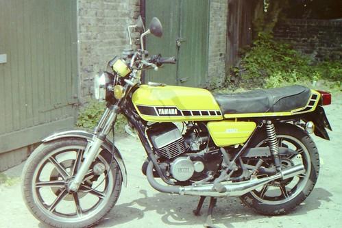 My old dispatch rider bike...35mm scanned slide film by Hawk900