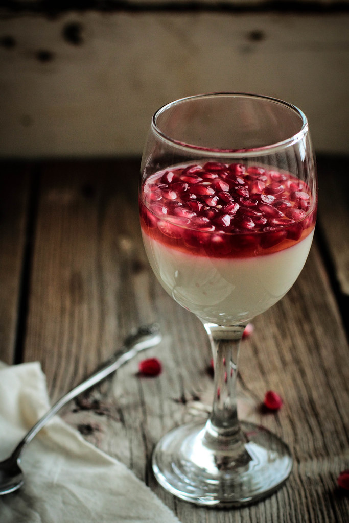 Pastry Affair | Pomegranate White Wine Panna Cotta