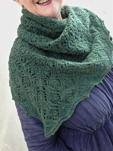 Green shawl 5