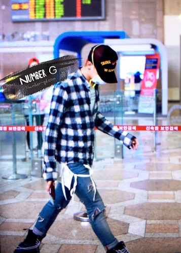 Big Bang - Gimpo Airport - 05jun2015 - G-Dragon - Number G - 01