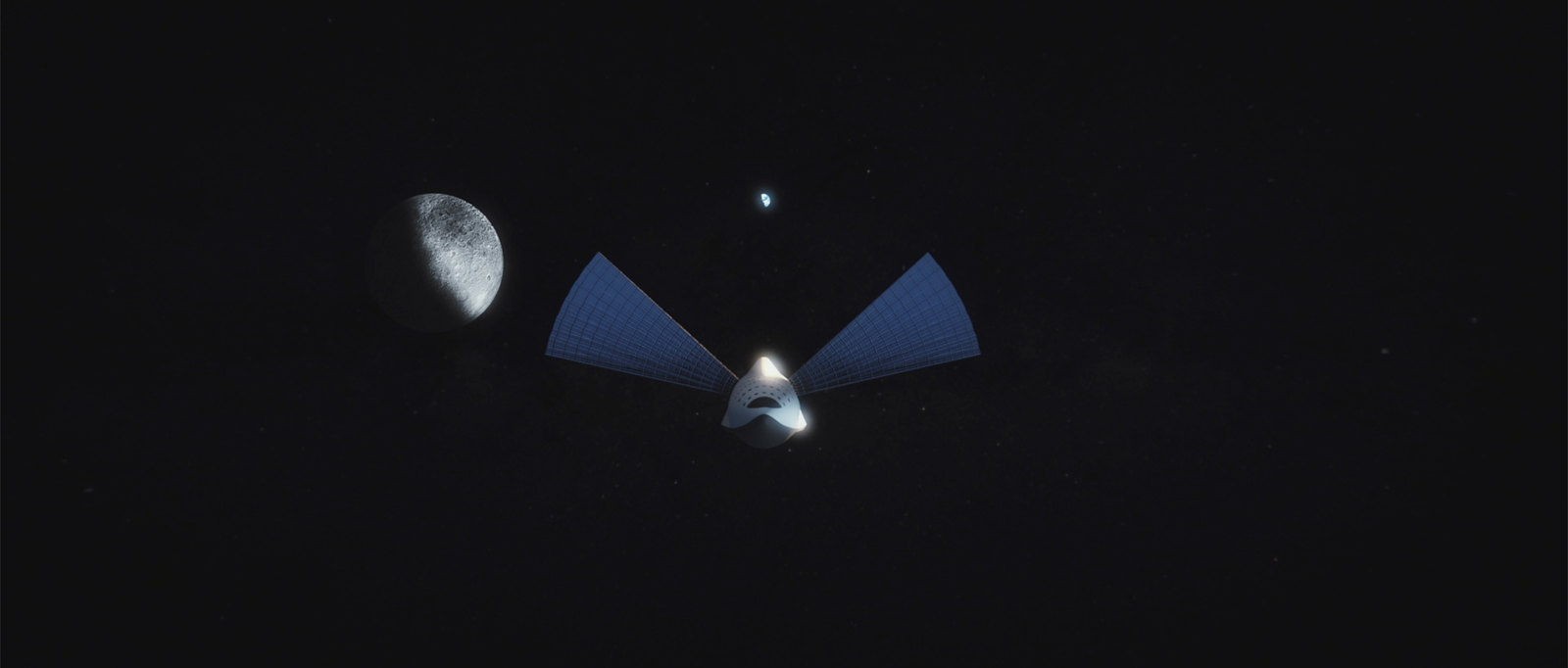 Interplanetary Transport System flies by the Moon