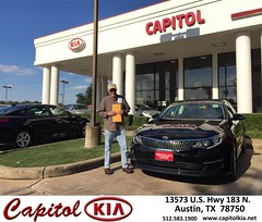 Congratulations Philip on your #Kia #Optima from Ivan Rodriguez at Capitol Kia!