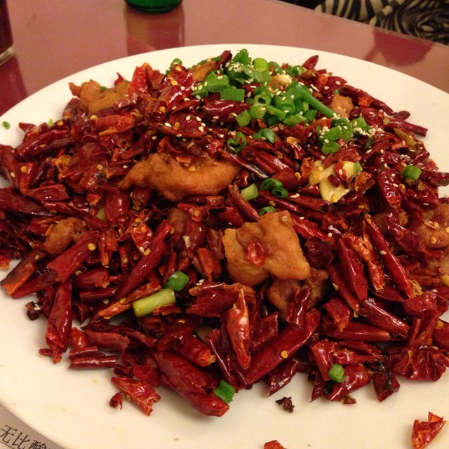 Crispy Chicken With Explosive Chili Pepper @ Z & Y Restaurant