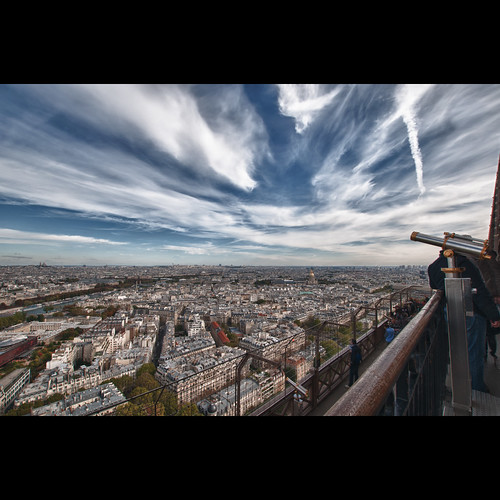 View from the Eiffel Tower #HDR