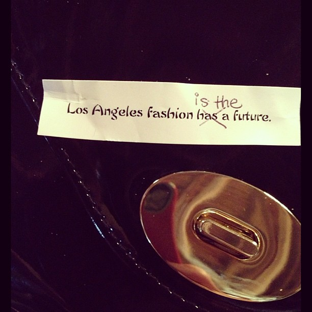 A message to the rest of the fashion world @LAFashCouncil @TwoPointOhla #LAFW @theLAFashion