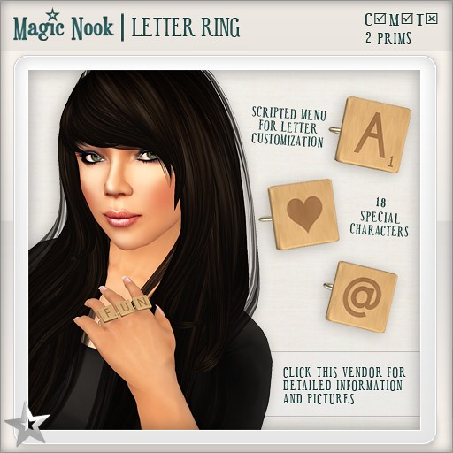 [MAGIC NOOK] Letter Ring