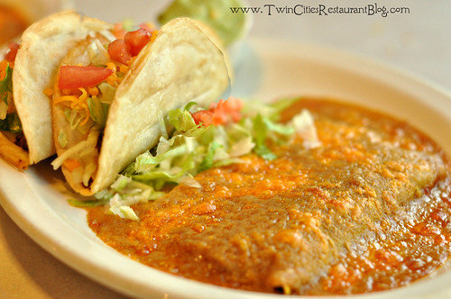 Fried Flour Tacos and Cheese Enchiladas at El Bravo ~ St Paul, MN