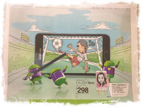 Shahril Ishak caricature artwork for SamSung Galaxy Note & DDB published