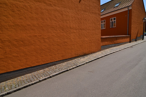 street city travel orange holiday by denmark town europe tourist region dänemark danmark viborg gade midtjylland
