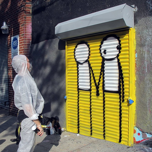 Stik's first piece in the US: in the Bronx by LoisInWonderland