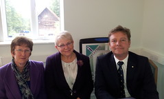 17/10/12 with Angela Painter, CEO and Alison Roper, Head of Operations at The Kenward Trust