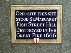 Photo of St. Margaret, Fish Street Hill blue plaque
