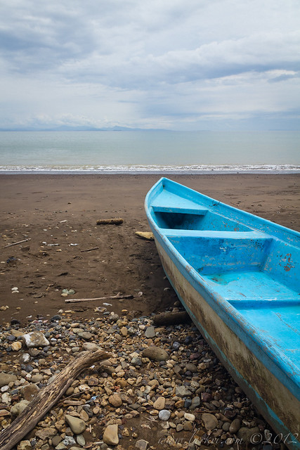 Boat, Fisherman's Beach, South of Puntarenas, Costa Rica, 2012