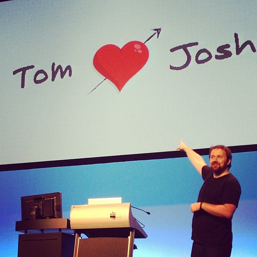 Aw, I love @tomcoates, too. #wds12
