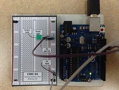 electrical wiring(0.0), gadget(0.0), display device(0.0), electronic instrument(0.0), breadboard(1.0), personal computer hardware(1.0), circuit component(1.0), microcontroller(1.0), electronics(1.0), electrical network(1.0),