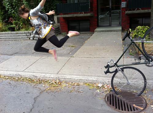 Les pistes cyclables de Montréal peuvent être très dangereuses.