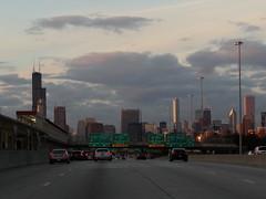 Expressway into Chicago