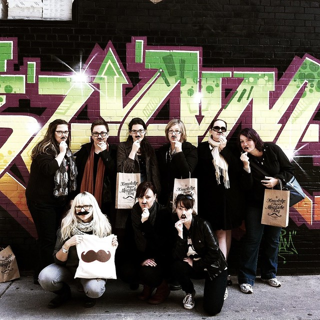 Movember photo walk participants at Blissdom Canada