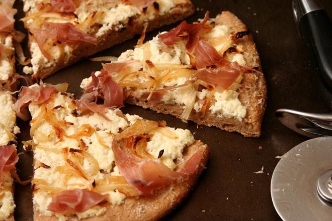 ricotta prosciutto pizza 6