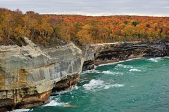 """Autumn Blaze"" Pictured Rocks National Lakeshore by Michigan Nut"