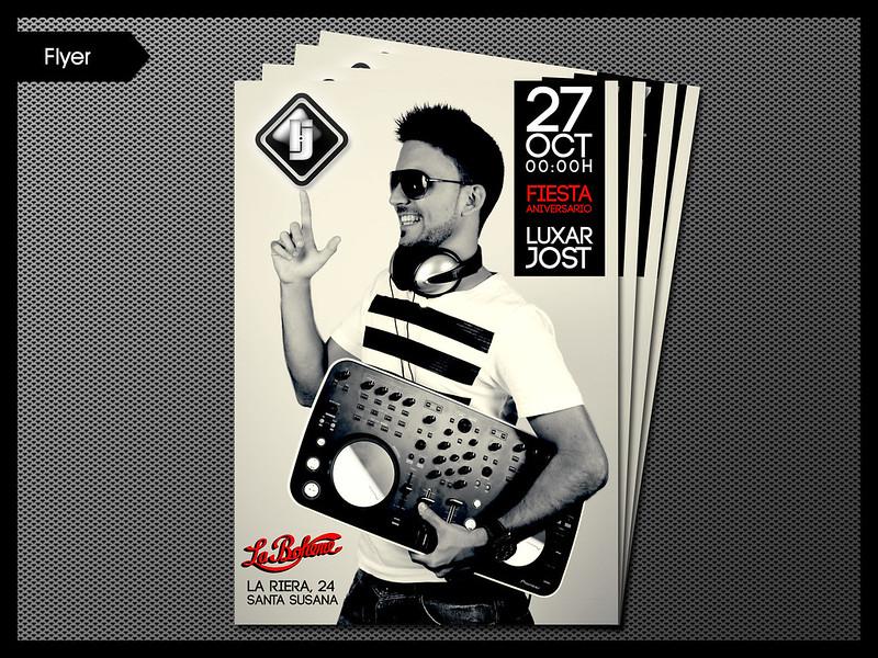 Flyer aniversario para dj Luxar Jost