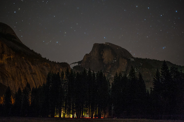 Half Dome Under the Stars