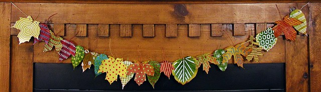 10.23. leaf garland close up