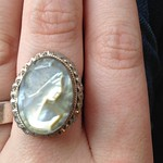 cameo ring from yard sale in Seaford