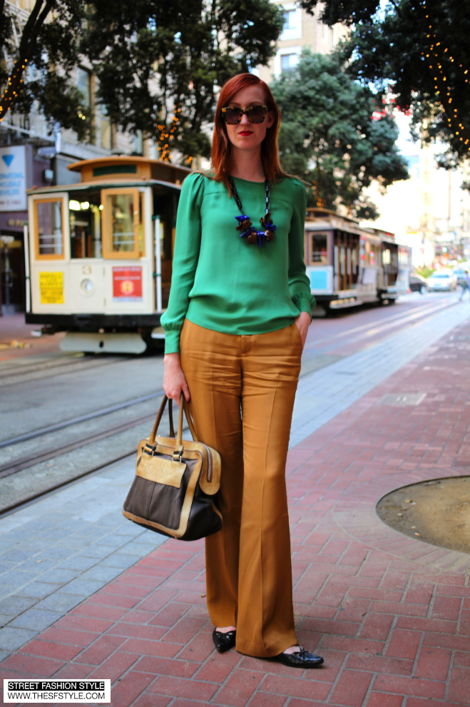 j crew, marni, theyskens theory, wide leg trousers, blouses, necklace, chloe, san francisco fashion blog, street fashion style, sfs, thesfstyle,