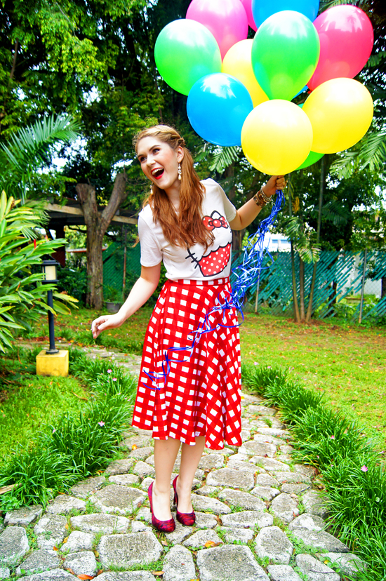 Balloons and Colorful Fashion
