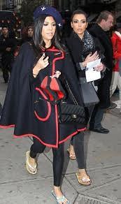 Kourtney Kardashian Cape Coat Celebrity Style Women's Fashion