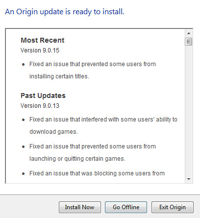 Origin Update October 27