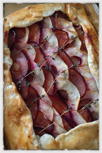 Plum and Apple Tart