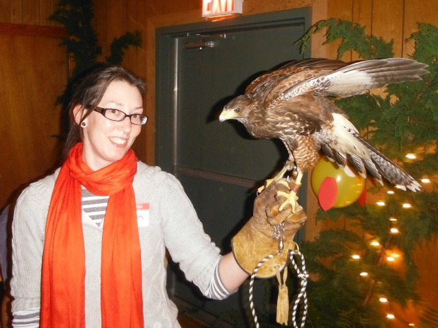 Me and Tarook the Harris Hawk