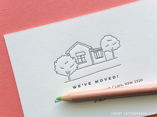 custom sketch moving announcement  // no.34