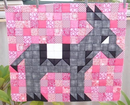 Donkey mini quilt