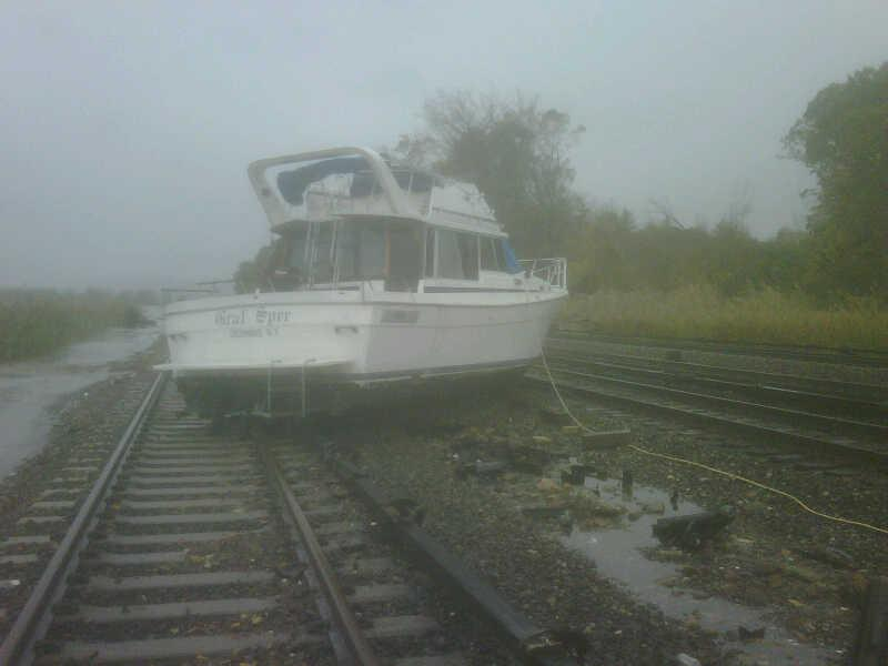 Boat On Tracks At Ossining