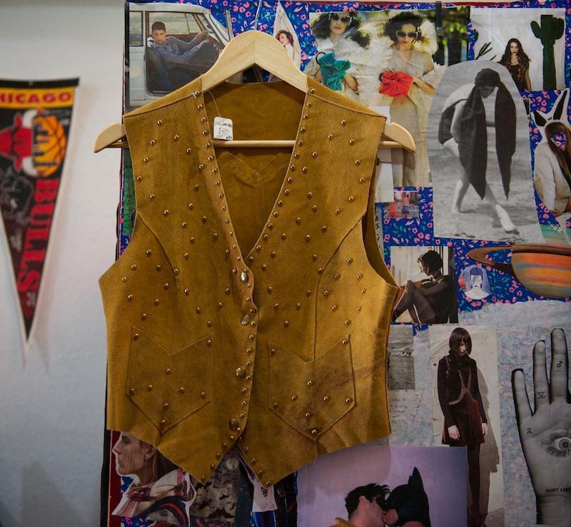 Suede waistcoat
