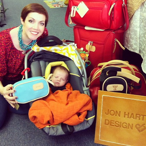 Today is a day that will go down in history for Griffin and I...our first Jon Hart Trunk Show! We believe in starting them out early :)