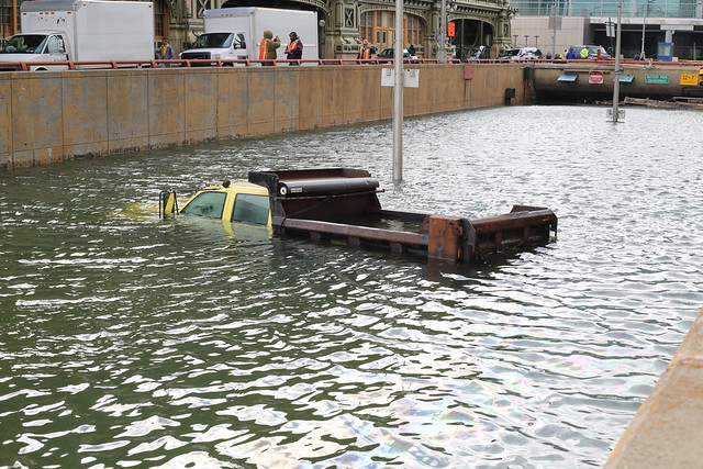 Flooded Battery Park Tunnel after Hurricane Sandy from Flickr via Wylio