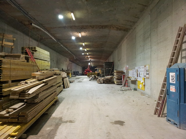 Unused Motorway Tunnel under Zurich Central Station