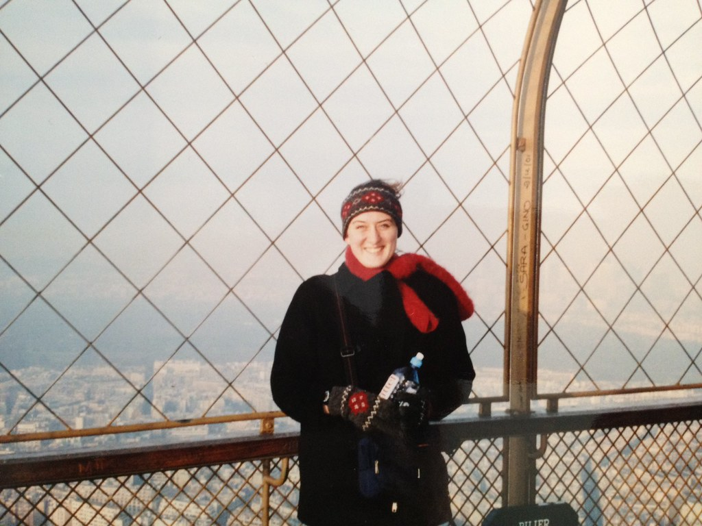 On top of the Eiffel Tower during my first ever trip to Paris